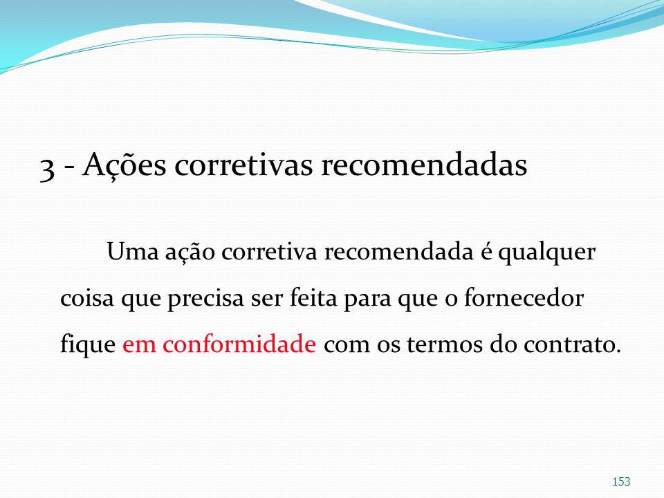 3 - Ações corretivas recomendadas