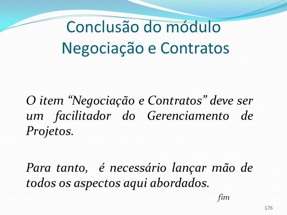 Conclusão do módulo Negociação e Contratos