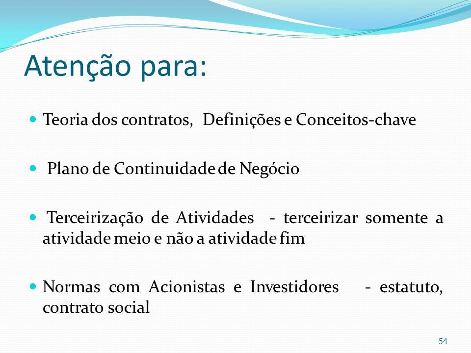 Atenção para: Teoria dos contratos, Definições e Conceitos-chave