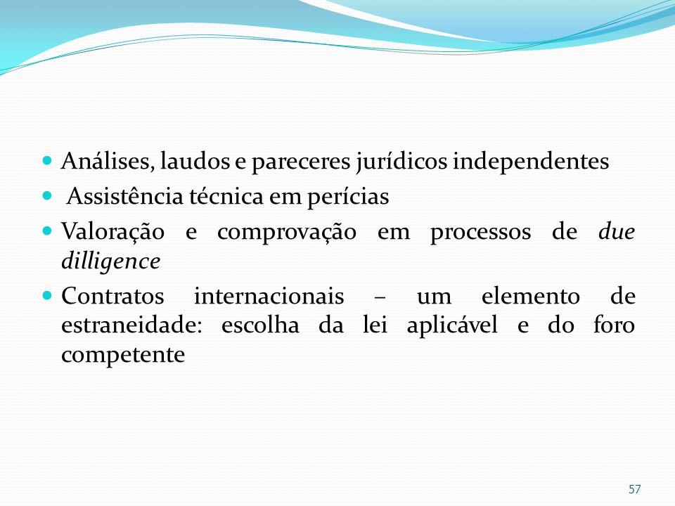 Análises, laudos e pareceres jurídicos independentes