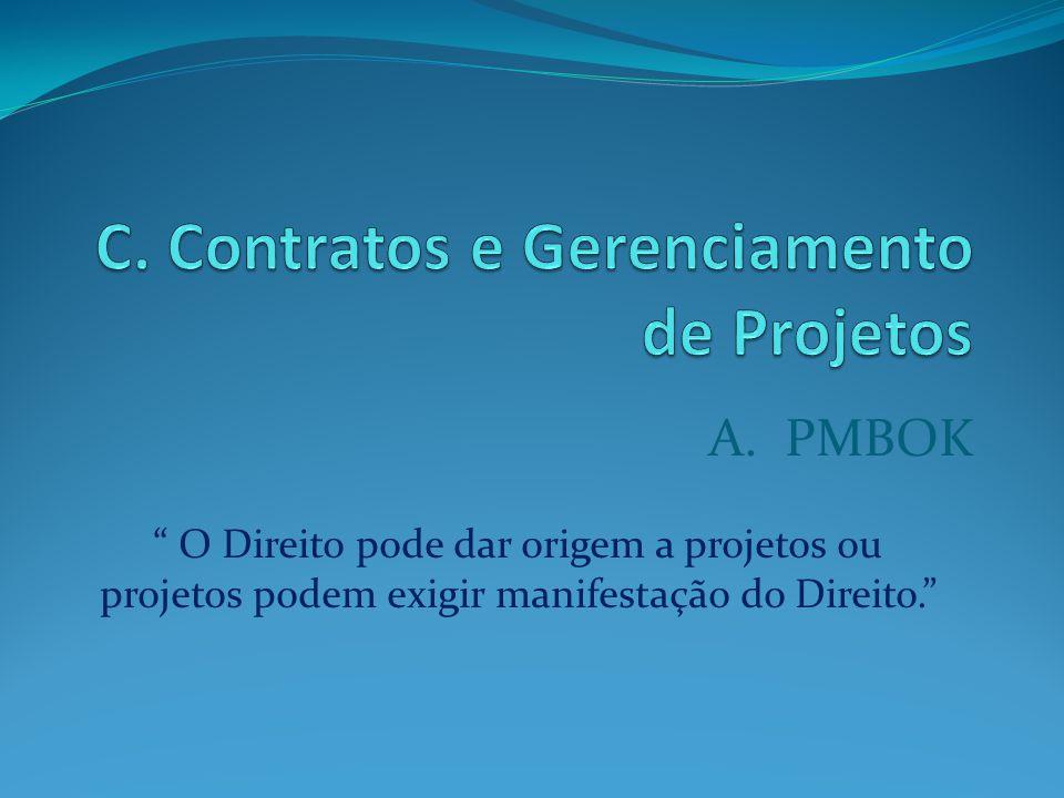 C. Contratos e Gerenciamento de Projetos