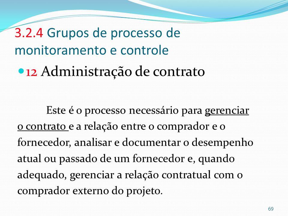 3.2.4 Grupos de processo de monitoramento e controle