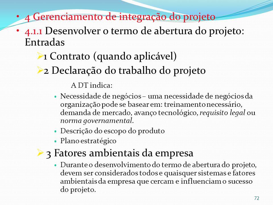 4 Gerenciamento de integração do projeto