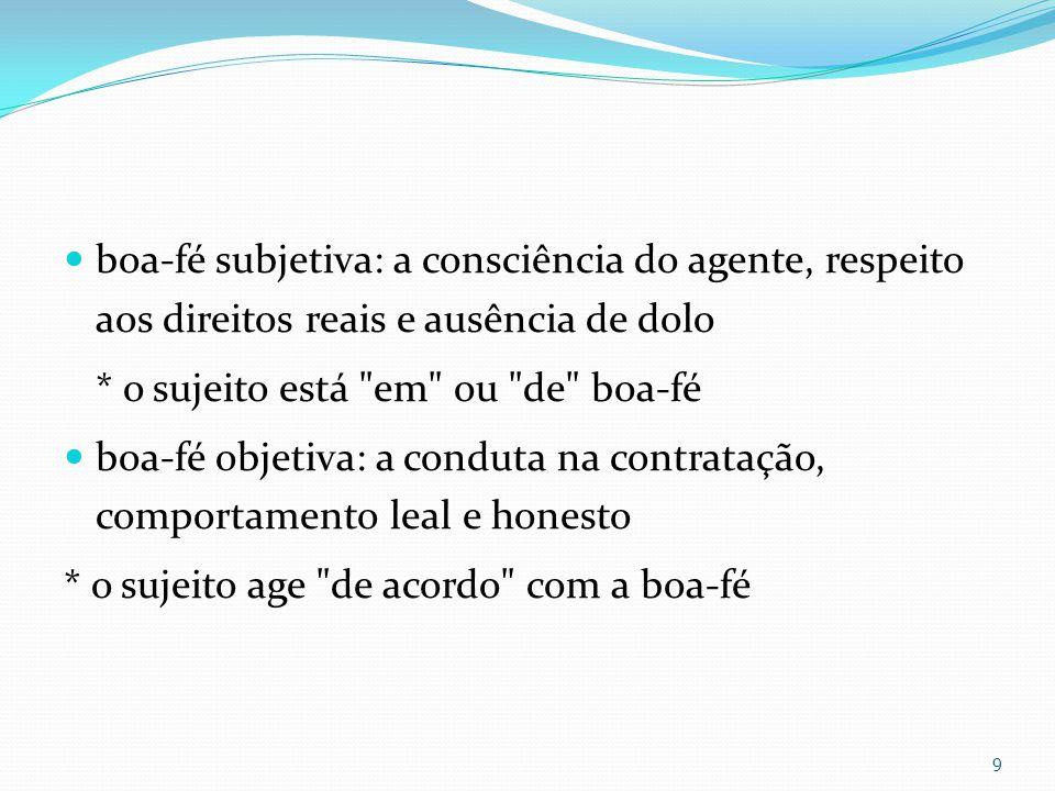 boa-fé subjetiva: a consciência do agente, respeito aos direitos reais e ausência de dolo
