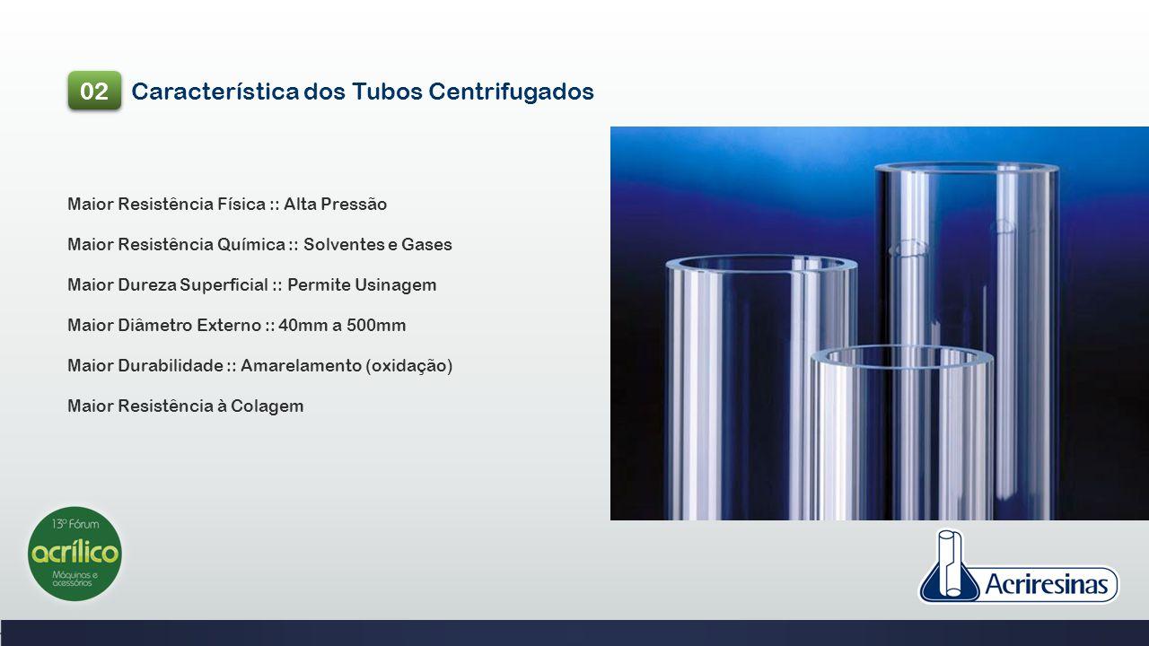 Característica dos Tubos Centrifugados
