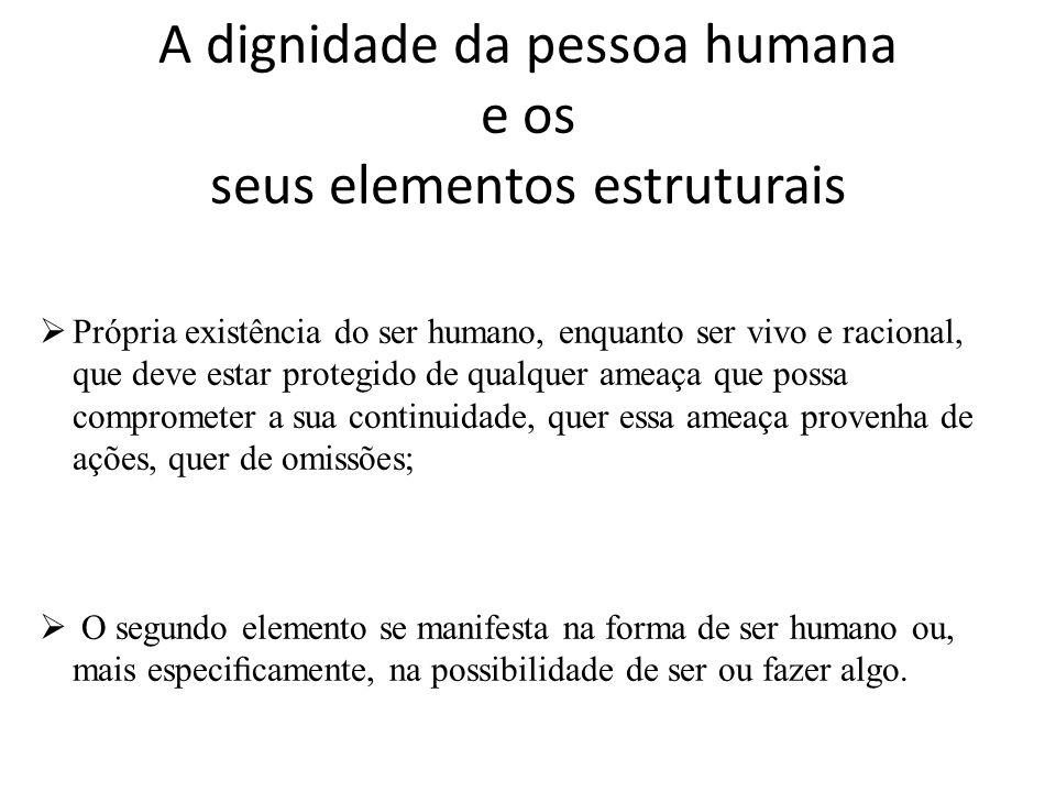 A dignidade da pessoa humana e os seus elementos estruturais