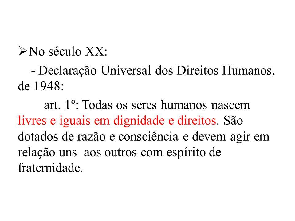 - Declaração Universal dos Direitos Humanos, de 1948: