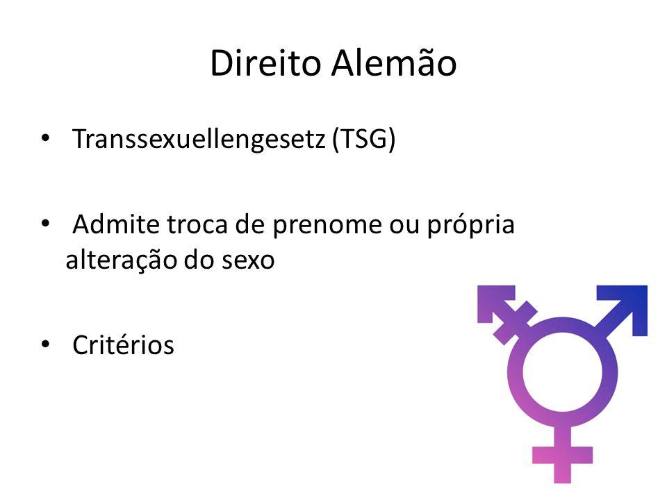 Direito Alemão Transsexuellengesetz (TSG)