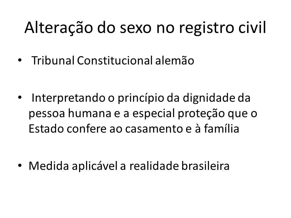 Alteração do sexo no registro civil