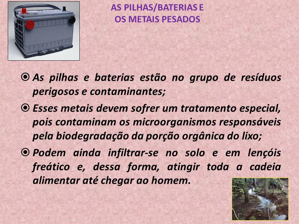 AS PILHAS/BATERIAS E OS METAIS PESADOS