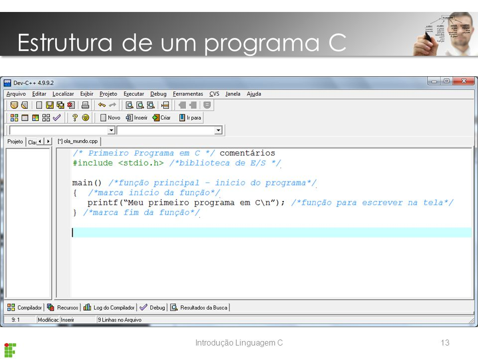 Estrutura de um programa C