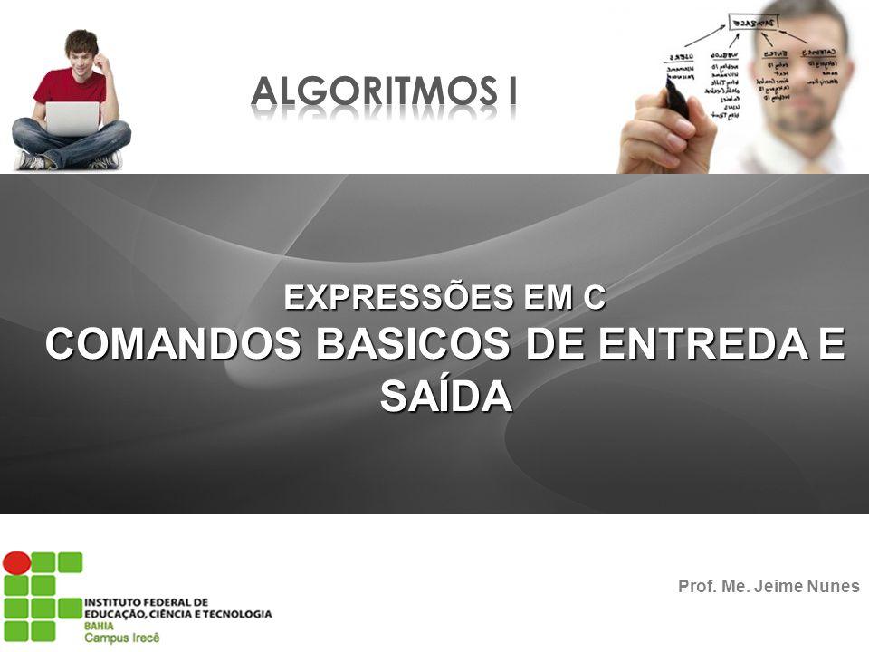 COMANDOS BASICOS DE ENTREDA E SAÍDA