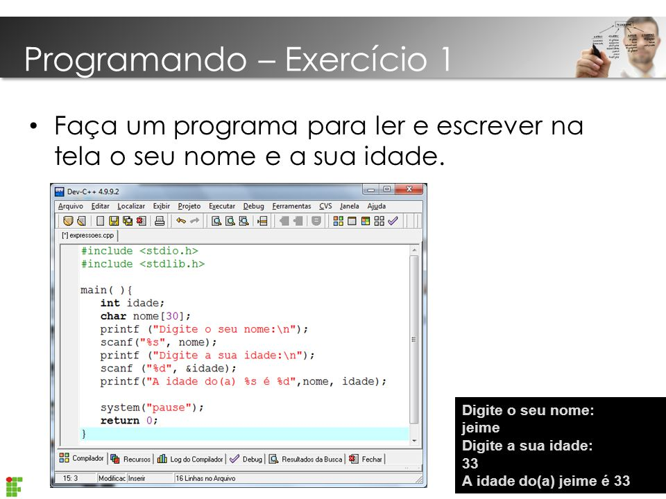 Programando – Exercício 1