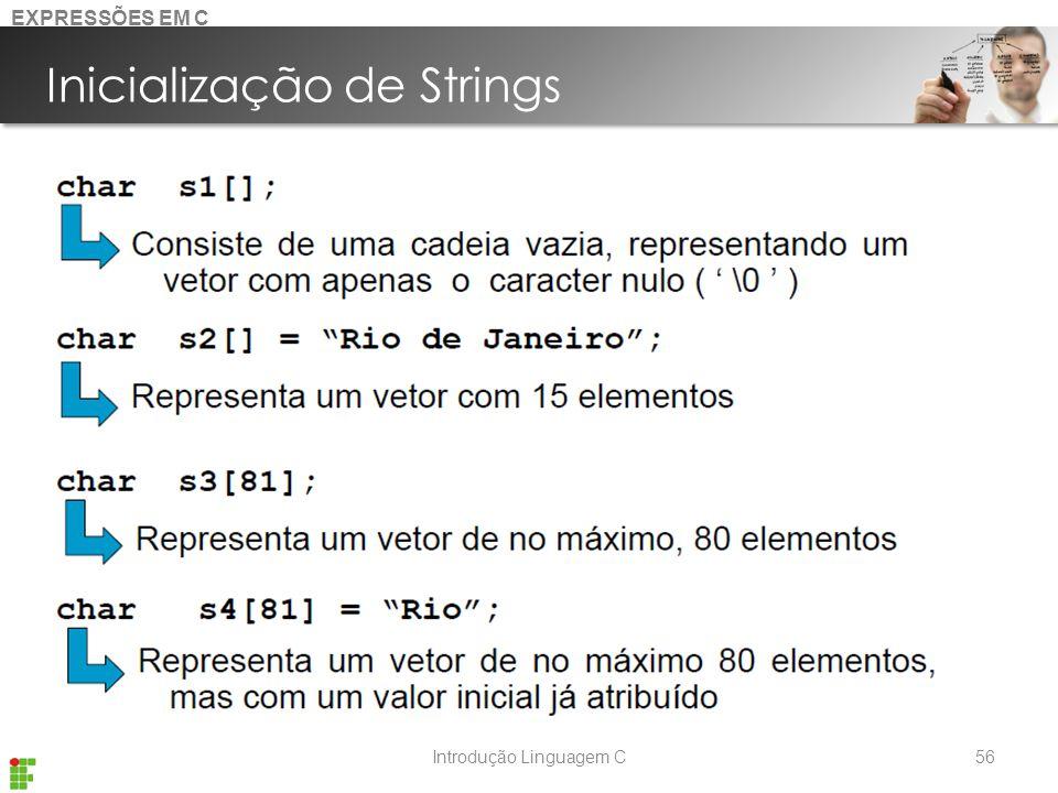 Inicialização de Strings