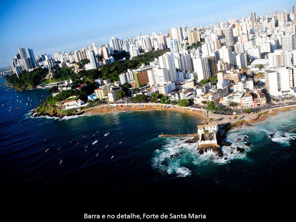 Barra e no detalhe, Forte de Santa Maria