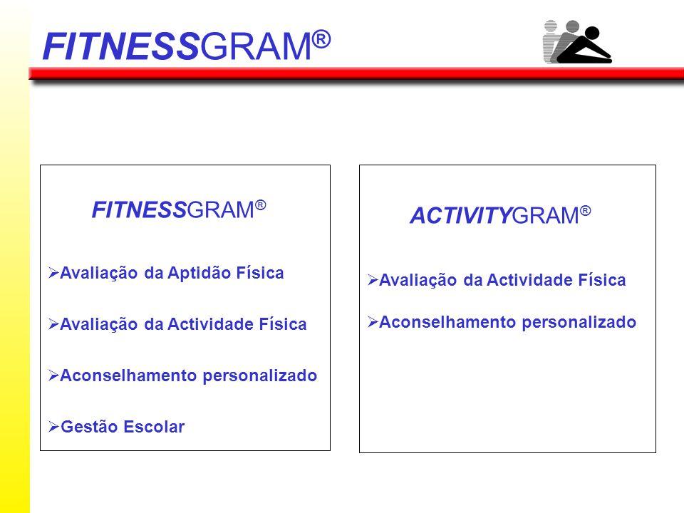 FITNESSGRAM® FITNESSGRAM® ACTIVITYGRAM® Avaliação da Aptidão Física