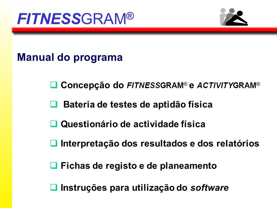 FITNESSGRAM® Manual do programa