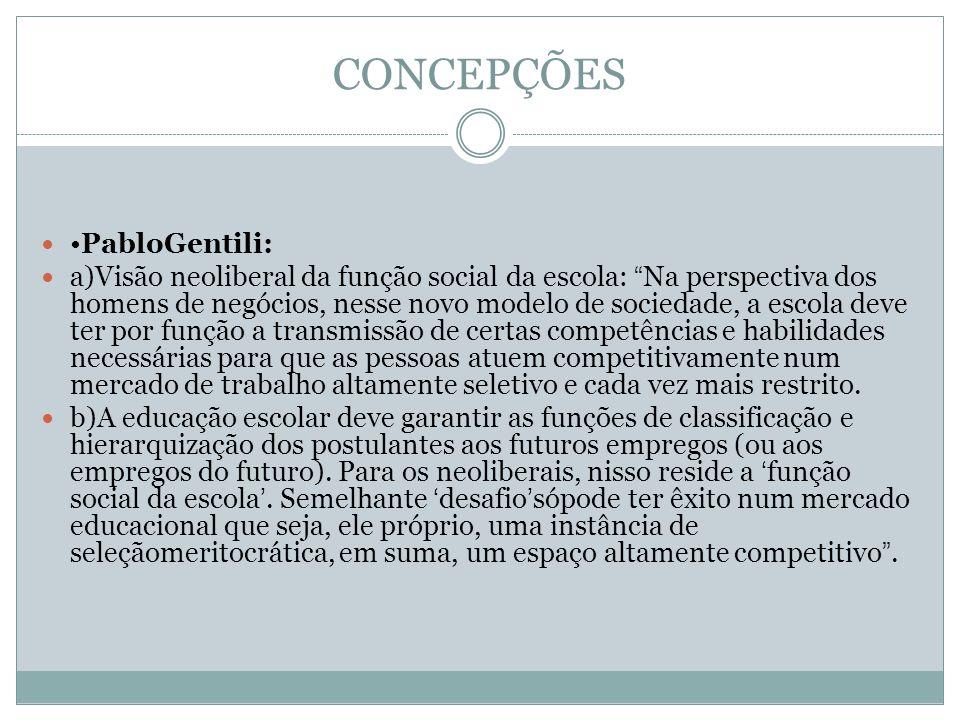 CONCEPÇÕES •PabloGentili: