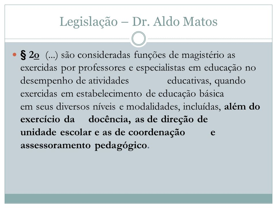 Legislação – Dr. Aldo Matos