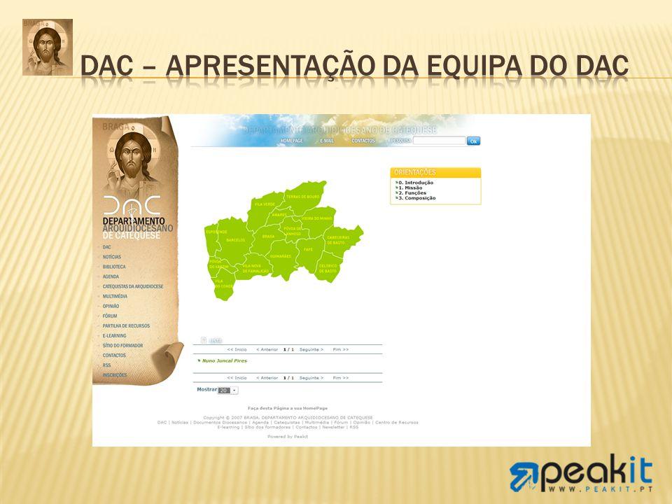 DAC – Apresentação da equipa do DAC