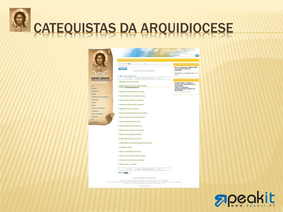 Catequistas da Arquidiocese