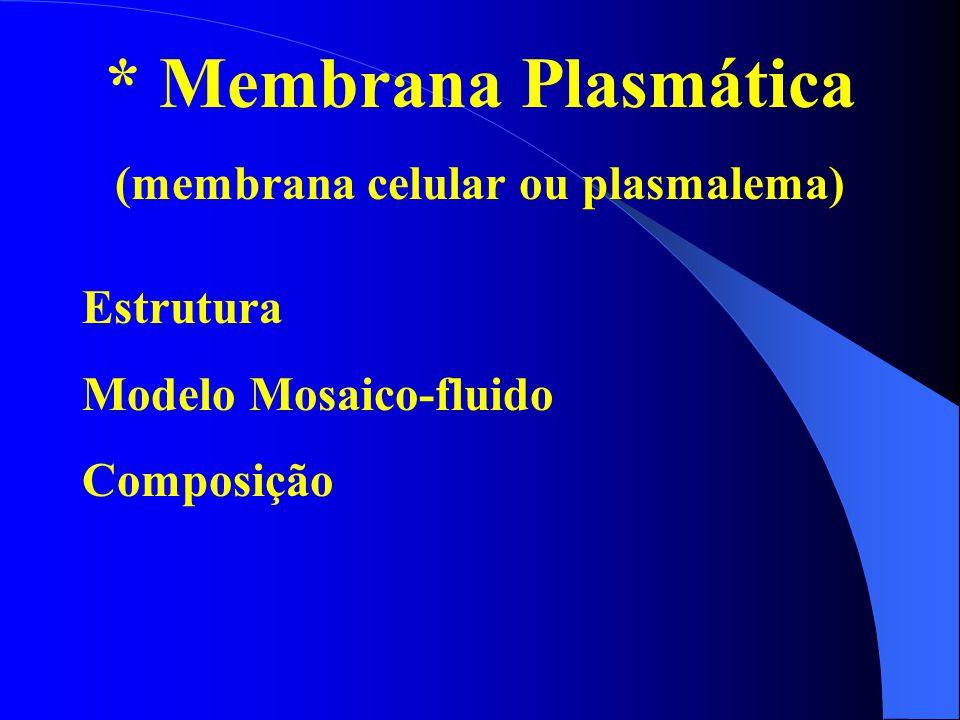 (membrana celular ou plasmalema)
