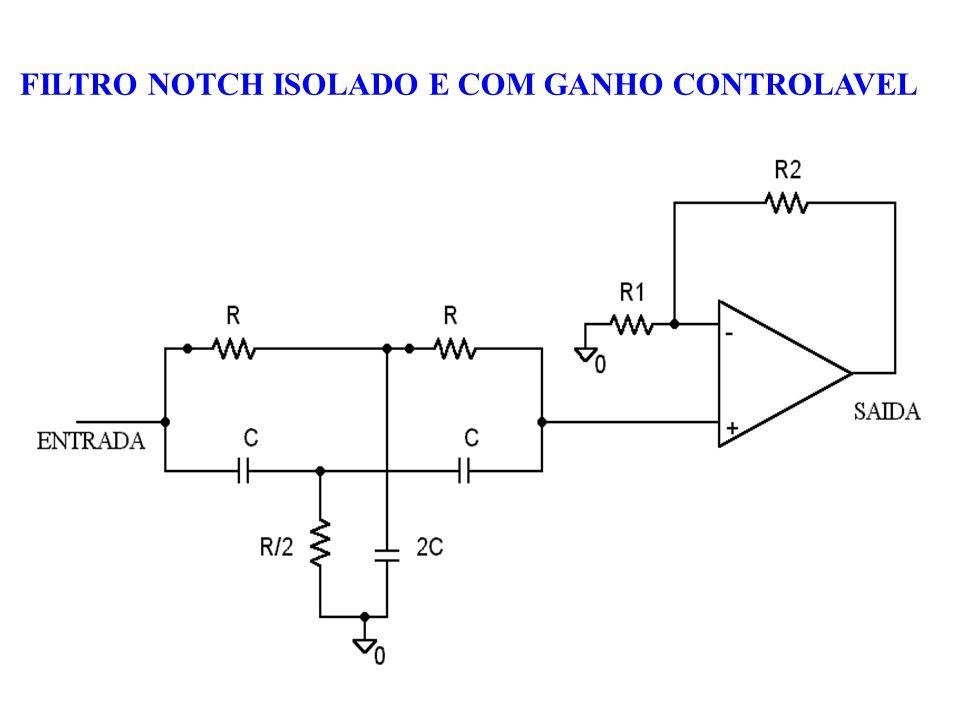 FILTRO NOTCH ISOLADO E COM GANHO CONTROLAVEL
