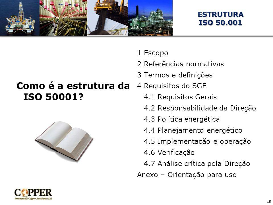 Como é a estrutura da ISO 50001