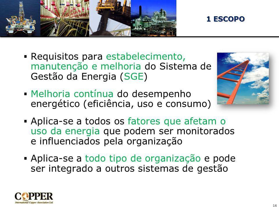 Melhoria contínua do desempenho energético (eficiência, uso e consumo)