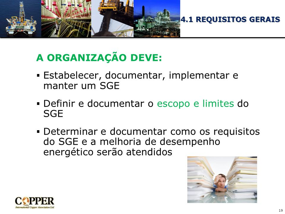 Estabelecer, documentar, implementar e manter um SGE