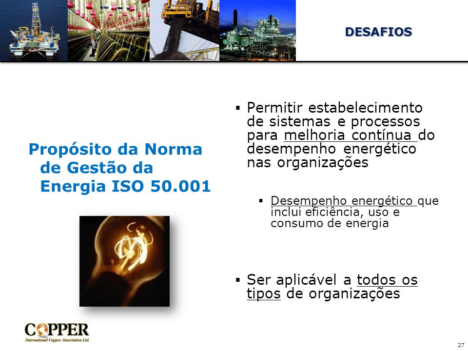 Propósito da Norma de Gestão da Energia ISO 50.001