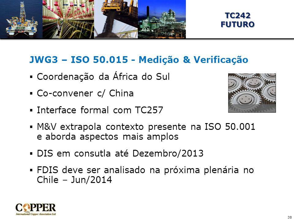 JWG3 – ISO 50.015 - Medição & Verificação Coordenação da África do Sul