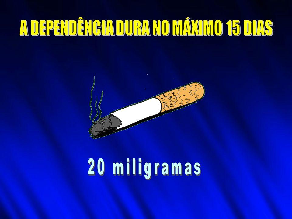 A DEPENDÊNCIA DURA NO MÁXIMO 15 DIAS
