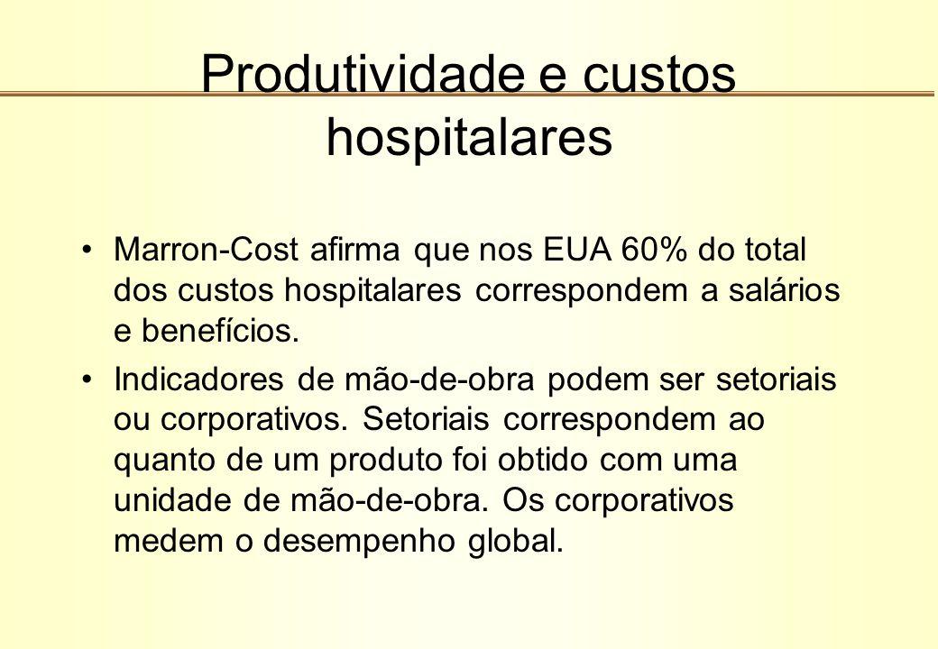 Produtividade e custos hospitalares