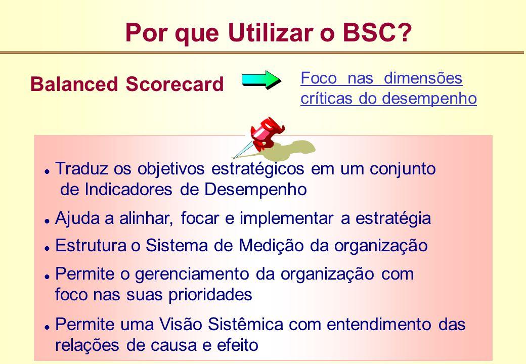 Por que Utilizar o BSC Balanced Scorecard