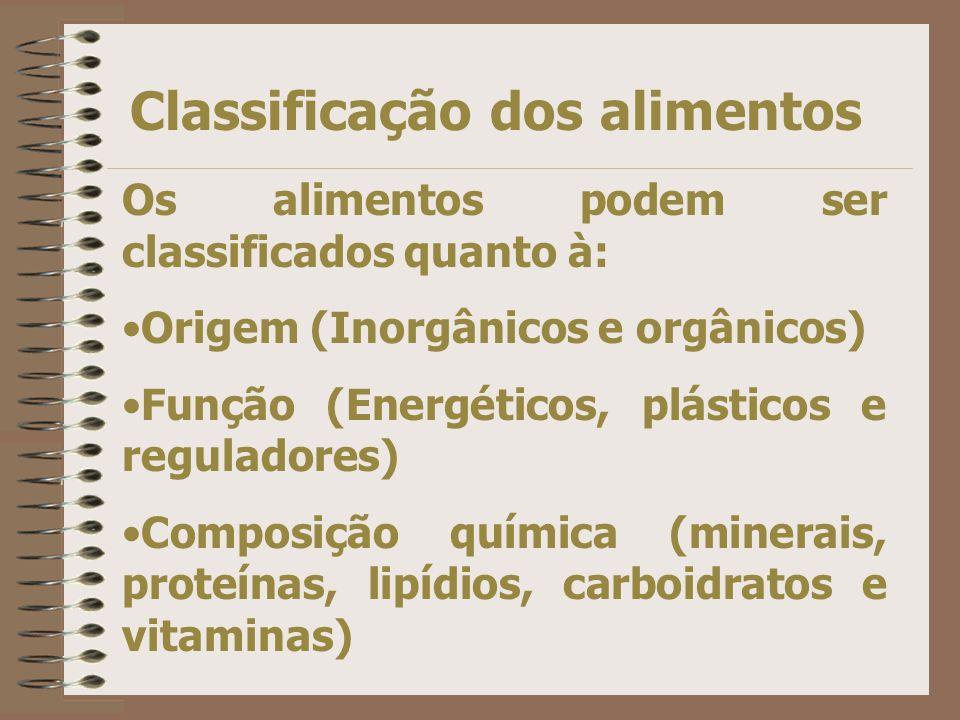 Classificação dos alimentos