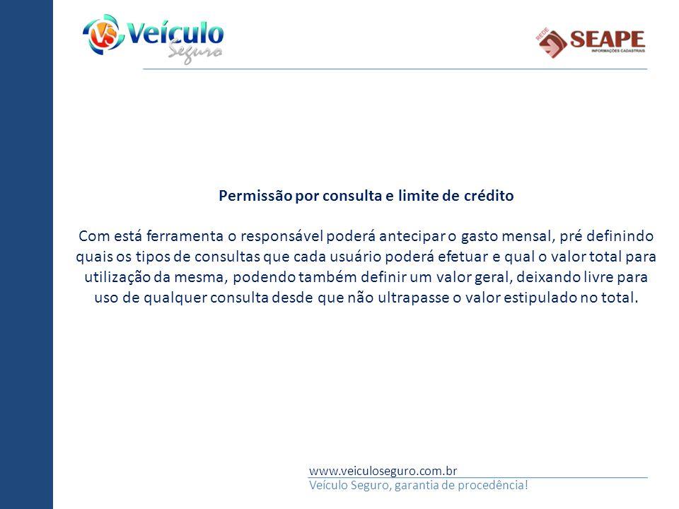 Permissão por consulta e limite de crédito