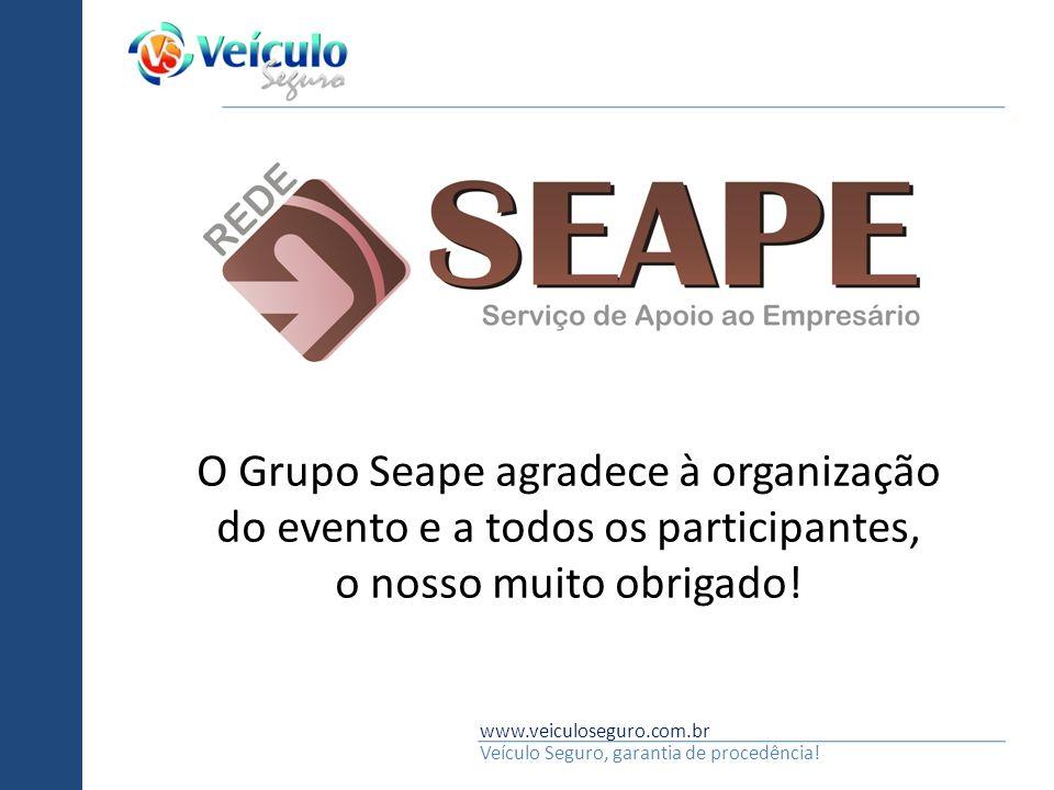 O Grupo Seape agradece à organização do evento e a todos os participantes,