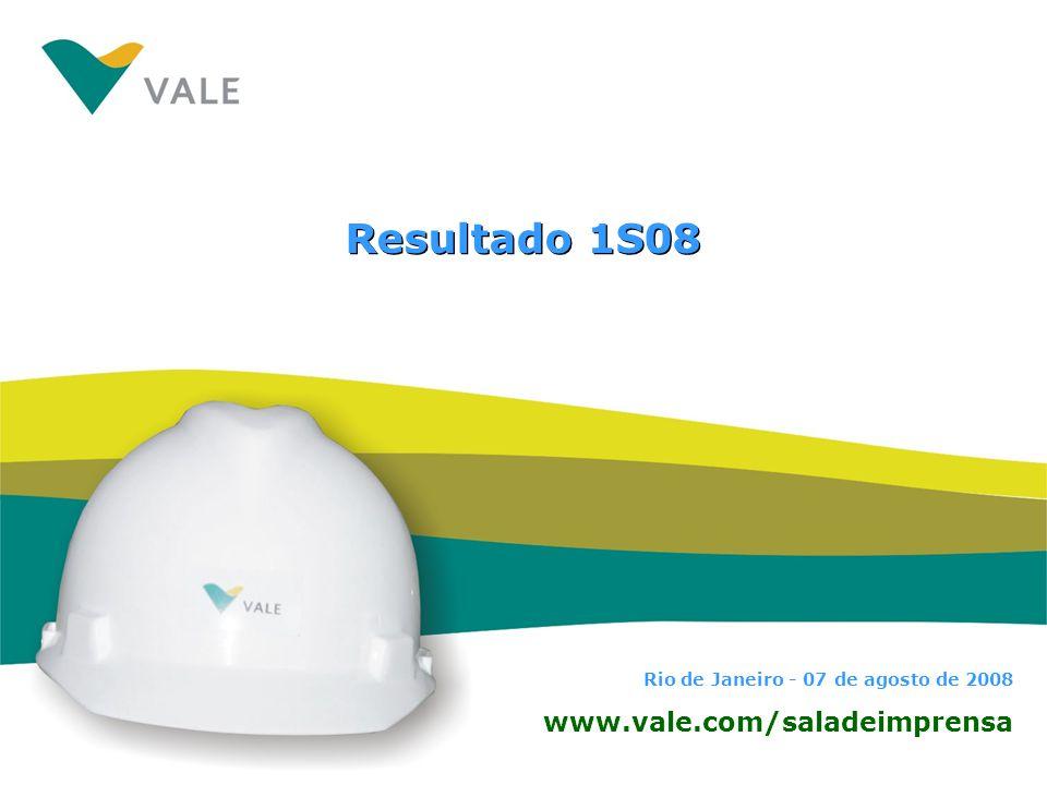 Resultado 1S08 www.vale.com/saladeimprensa