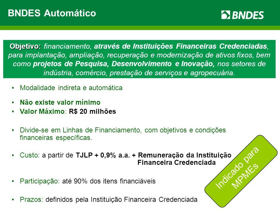 BNDES Automático Indicado para MPMEs