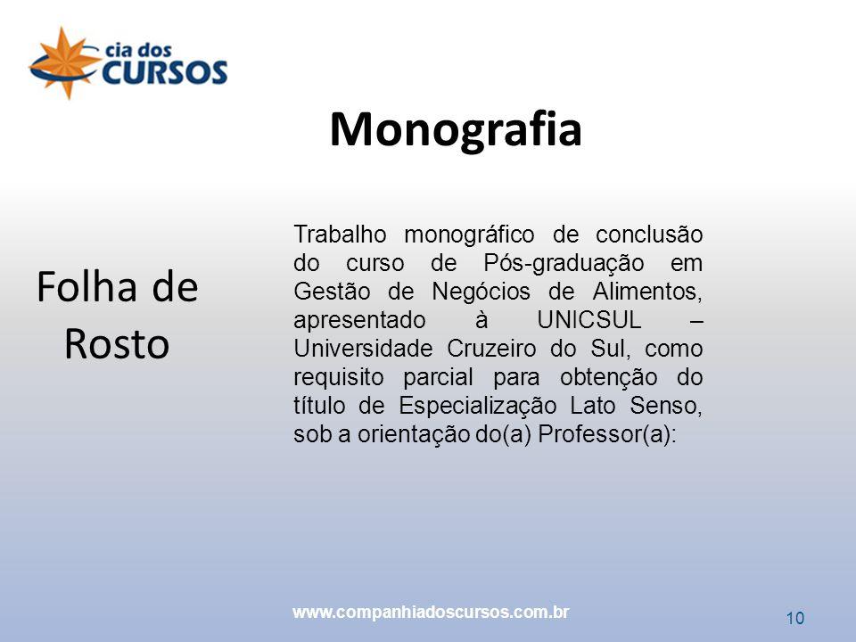 Monografia Folha de Rosto