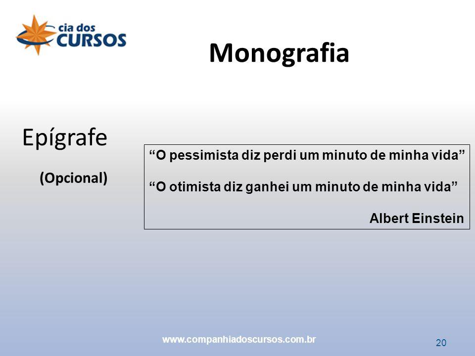 Monografia Epígrafe (Opcional)