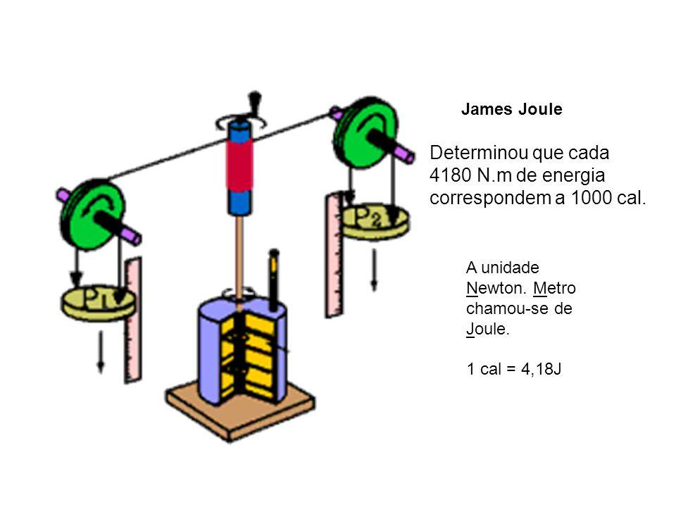 Determinou que cada 4180 N.m de energia correspondem a 1000 cal.