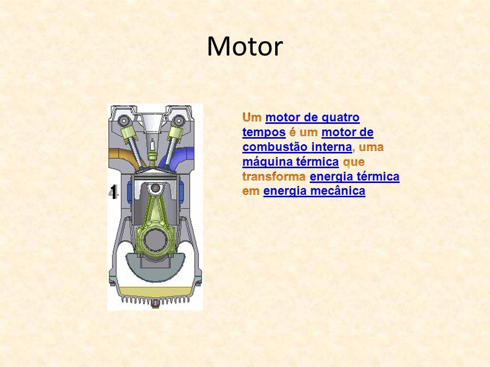 Motor Um motor de quatro tempos é um motor de combustão interna, uma máquina térmica que transforma energia térmica em energia mecânica.
