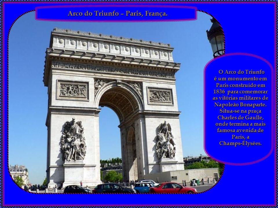 Arco do Triunfo – Paris, França.