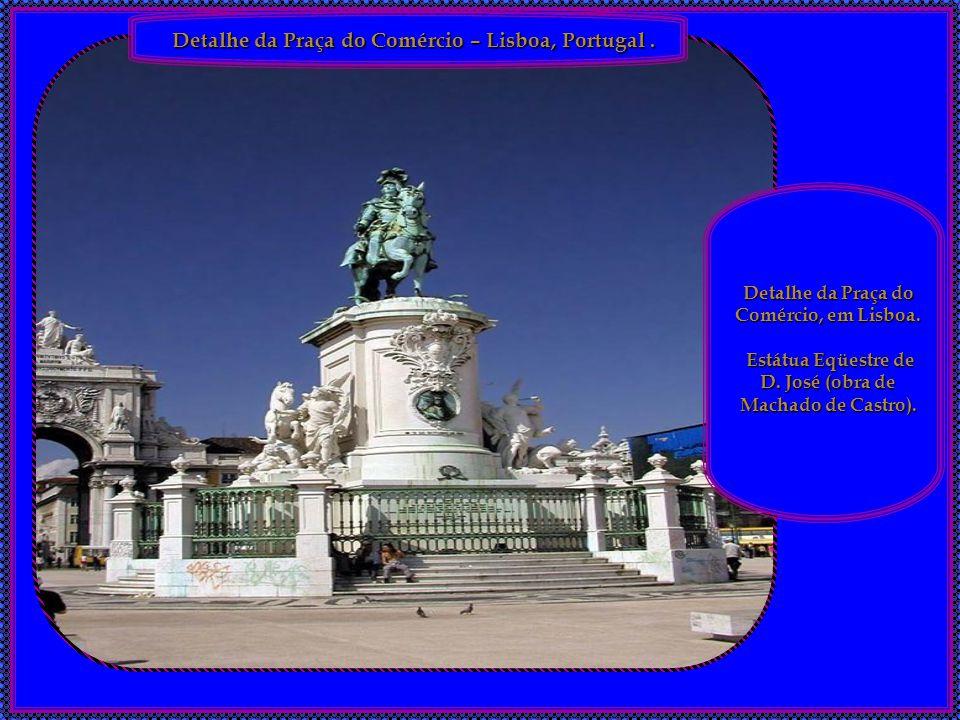 Detalhe da Praça do Comércio – Lisboa, Portugal .