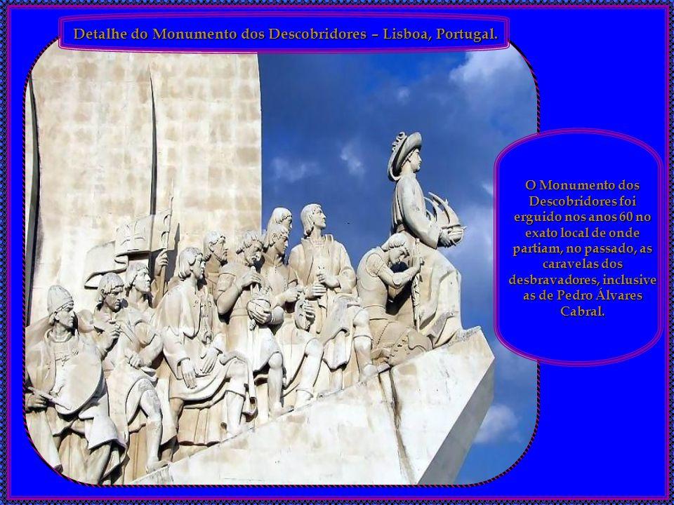 Detalhe do Monumento dos Descobridores – Lisboa, Portugal.