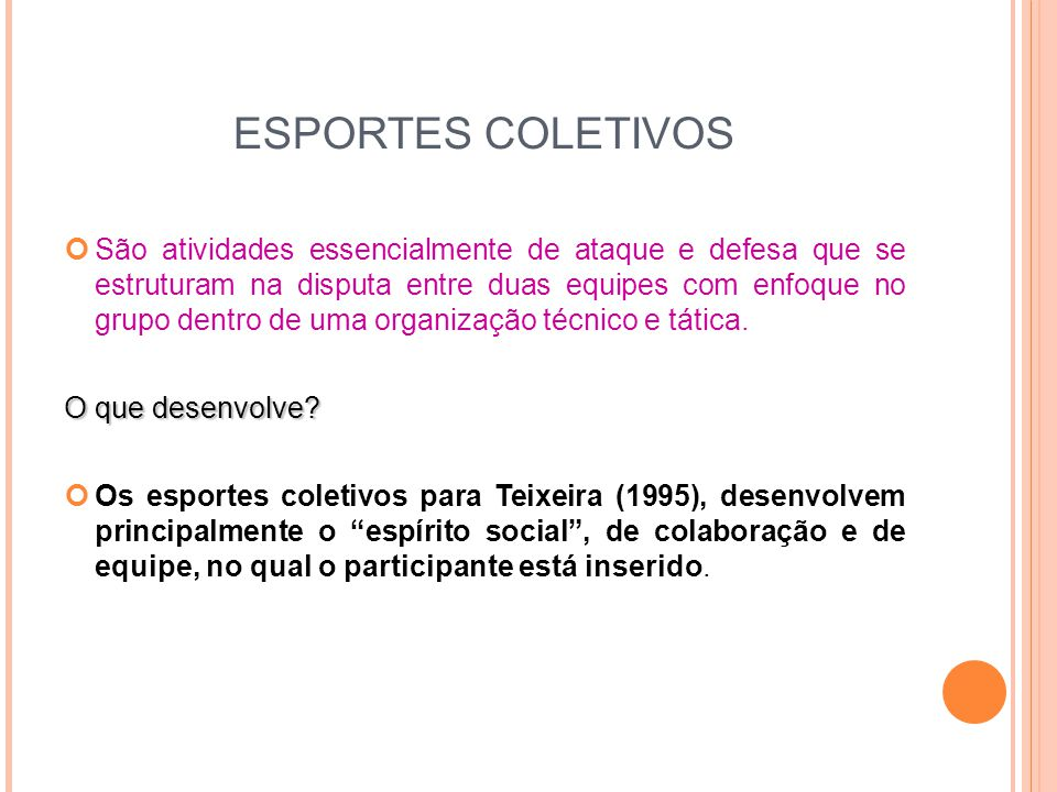 ESPORTES COLETIVOS