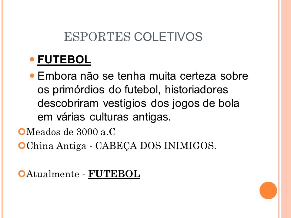 ESPORTES COLETIVOS FUTEBOL