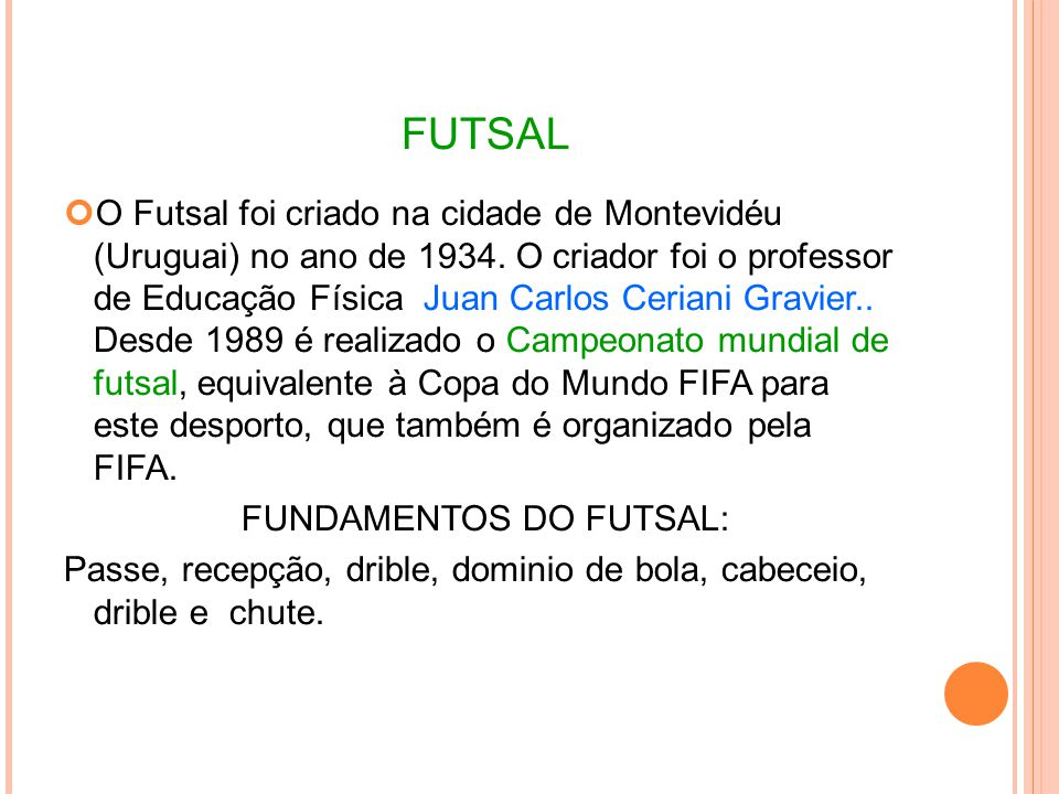 FUNDAMENTOS DO FUTSAL: